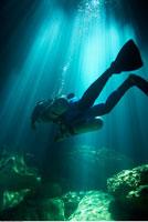 Woman Scuba Diving 20025190174| 写真素材・ストックフォト・画像・イラスト素材|アマナイメージズ