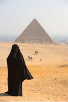 Woman in Front of The Great Pyramid