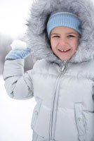 Girl Throwing Snowball