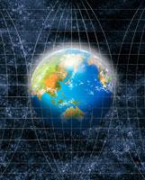 Globe on Grid Lines