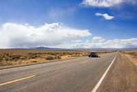State Trooper on Desert Road