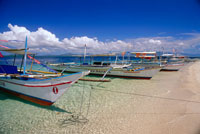 Bangka Boats on Shore