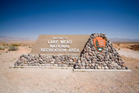 Sign at Lake Mead National Recreation Area