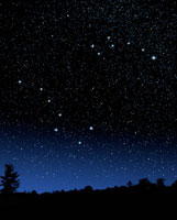 Night Sky Displaying Big Dipper