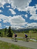 Cyclists Near Breckenridge