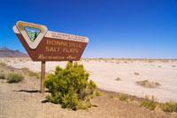Sign at Bonneville Salt Flats