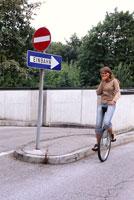 Woman on Unicycle