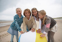 Children Playing with Large Beach Ball