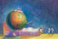 Illustration of Sick World
