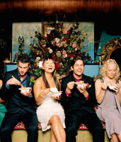 Bridal Party Eating Noodles