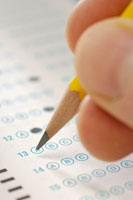 Close Up of SAT Test