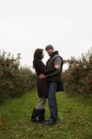 Couple in Apple Orchard