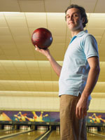 Man at Bowling Alley