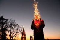 Man with Christmas Tree on Head,San Miguel de Allende,Guanaj