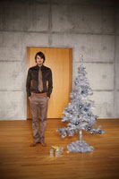 Portrait of Man with ChristmasTree