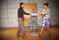 Couple by Christmas Tree