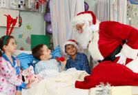 Santa Visiting Children inHospital
