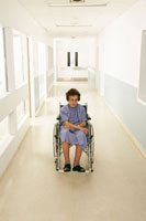 Woman in Wheelchair at Hospital