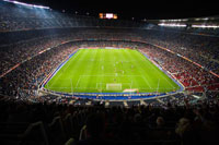 Crowd Watching Soccer Game,Nou Camp Stadium, Barcelona,Spain