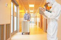 Scientists in Hallway