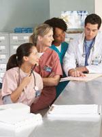 Nurses Admiring Doctor