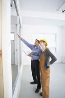 Man and Woman on ConstructionSite