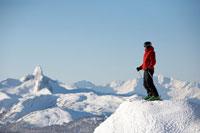 Man at Top of Ski Hill,Whistler, British Columbia,Canada