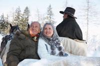 Couple on Sleigh Ride