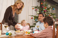 Family Having Dinner