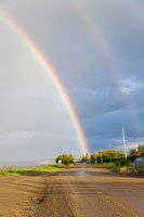 Rainbow Over Country Road,Fort Simpson, NorthwestTerritory,