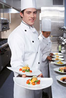 Chef Holding Meals
