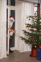 Santa Sneaking into Home