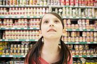 Little Girl in Grocery Store