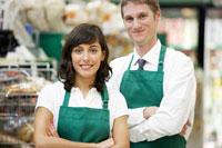 Portrait of Grocery Clerks