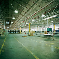 Interior of Factory Warehouse