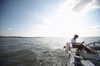 Woman Sailing