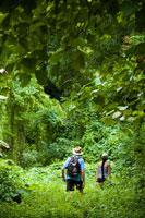 People Hiking near Laulii Village