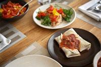 Food on Dining Room Table