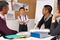 Child Leading Presentationin Office