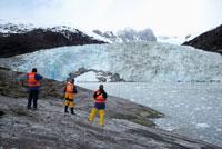 Tourists Looking at Glacier,Pia Glacier