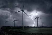 Wind Turbines in Storm