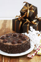 Chocolate Cake and Presents
