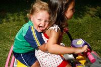 Children on Toy ATV