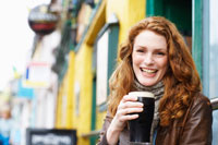 Woman with Glass of Beer
