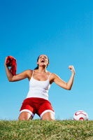 Soccer Player Cheering