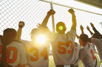 Baseball Players Cheering inDugout