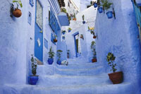 Steps between Houses�AChefchaouen�A Morocco