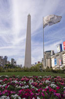 Obelisk Square、 Buenos Aires、Argentina