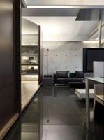 Interior of modern space