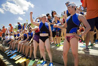 Swimmers at Annual Summer Swimming Contest